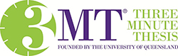 3MT - three minute thesis logo