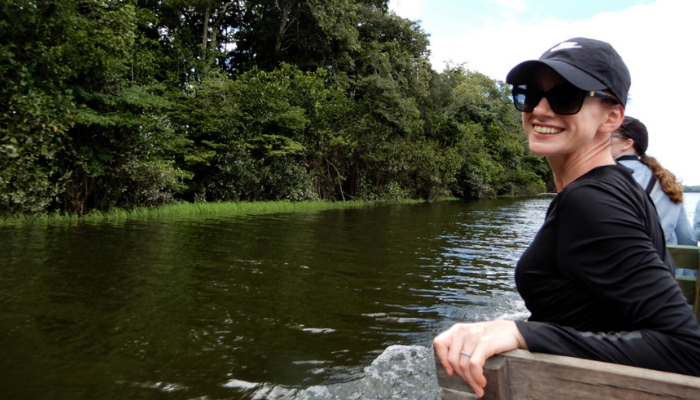 Erica - Environmental Sciences student in the Amazon river