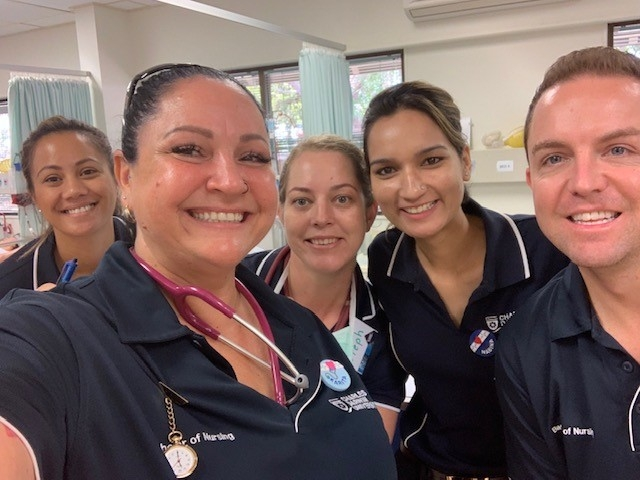 CDU Nursing student Karita McCarthy and friends