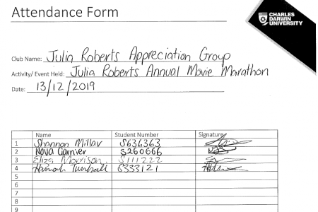 Attendance Form for SG correct