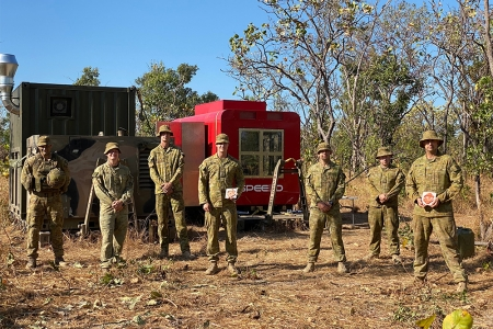 CDU engineers have travelled to a remote area in the NT to train Australian Army soldiers in cutting-edge metal 3D printing technology