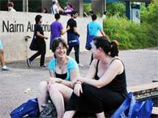 Students on Casuarina campus