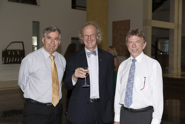 Professor Ned Aughterson, Professor Martin Jarvis and Chief Justice Trevor Riley