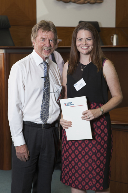 Chief Justice Trevor Riley and The Northern Territory Bar Association Prize for Torts recipient Kiah McGregor