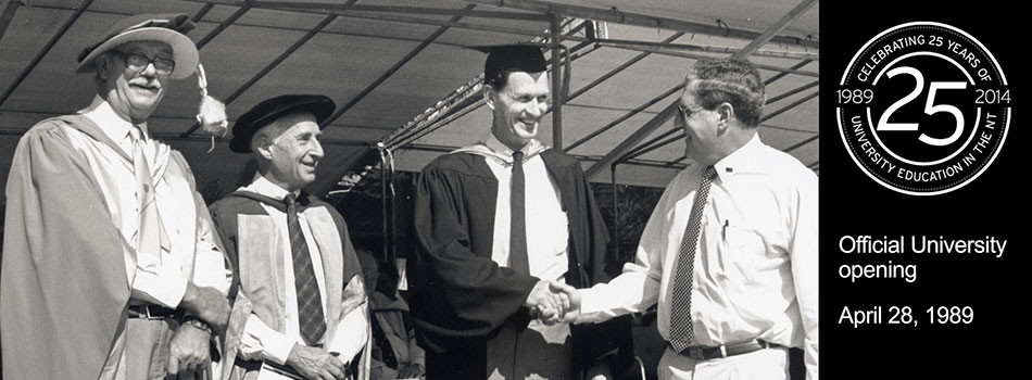Official University opening, April 28, 1989 - 25th Anniversary Celebrations