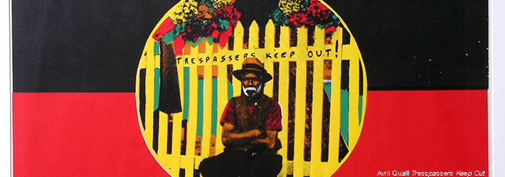 Avril Quaill Tresspassers Keep Out Painting