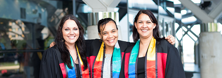 Indigenous students at graduation