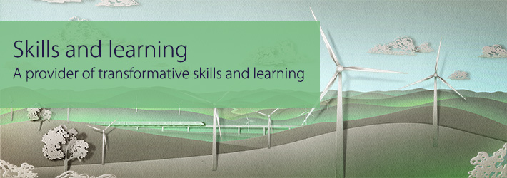 Banner representing CDU's skills and learning goals