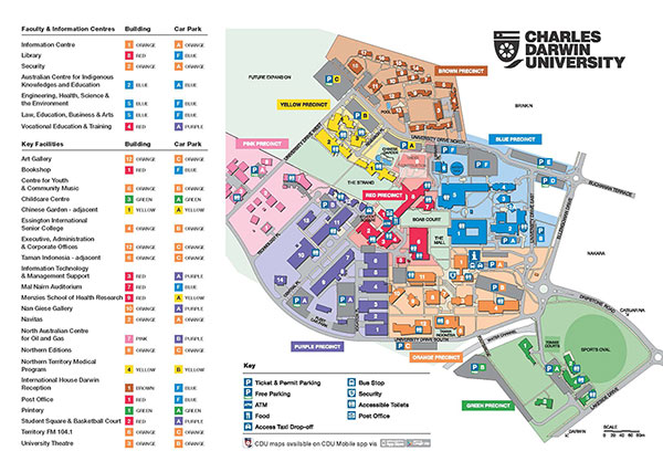 CDU casuarina campus map