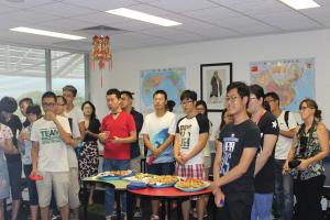 Chinese students in the party