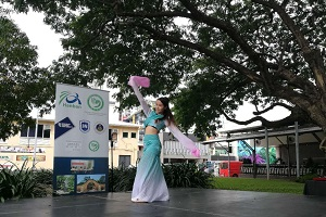 Dance performance by Chinese language teacher Ms Yiting Chen
