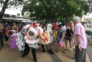 The Lion Dance light up the event