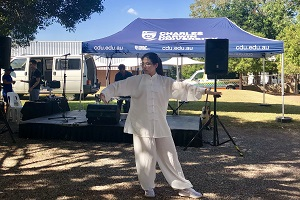 Tai Chi performance by Confucius Institute teacher Ms Menghan Zhang