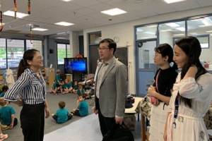 Mr Ke visit the Confucius Classroom at Woodroffe Primary School
