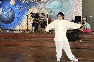 24 forms Tai Chi performance by Chinese Volunteer Teacher Ms Menghan Zhang
