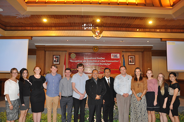 CDU students with Indonesian and international participants in the international seminar