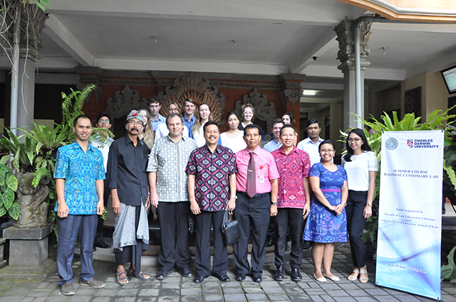 CDU students together with Dr Daniel Kelly and their Balinese lecturers