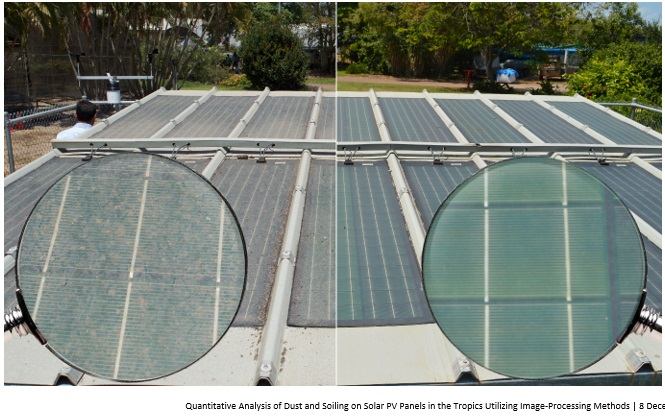 The quantitative effects of dust and soiling-induced shading on photovoltaic modules under the tropical environment