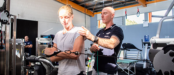 Swimming Australia's open water swimmers use CDU's facilities to prepare for the Tokyo Olympic Games