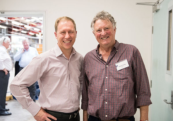 General Manager Commercialisation Policy Branch, Department of Industry, Innovation and Science David Wilson and SPEE3D Director Richard Young