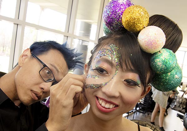 Alvin Goh with model Ivory Ling