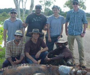 Conservation and Land Management students (back, from left) Brett Webster, Con Farrell, Christina Triantafillidis and Joel Ozgin, (front, from left) Vijay Sheokand, Nuno Cintra and Comfort Ncube