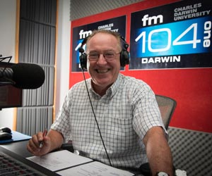 Daryl Manzie is celebrating 12 years as a volunteer presenter with Territory FM