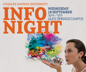 CDU will showcase its offerings in Alice Springs at an information night on 18 September