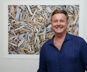 """Visual Arts lecturer and prominent environmental artist John Dahlsen is gifting his work """"Driftwood #1"""" to the Emerald Springs Roadhouse to help raise funds for the Leukaemia Foundation"""