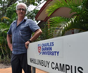 """Nick O'Callaghan … """"exciting new retraining opportunities"""" in Nhulunbuy. Photo: Arafura Times"""