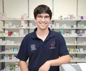CDU student Karl Staben is set to compete in the Pharmacy Student of the Year NT/SA regional final in 2014