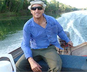 PhD candidate Peter Novak is concerned giant freshwater prawn populations in Northern Australia, known as Cherabin, are declining