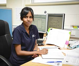 PhD candidate Monishka Narayan is currently working on optimising the design of organic solar cells