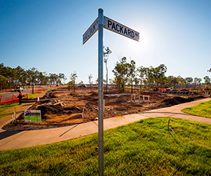 Foundations are underway for the first homes at The Heights, Durack