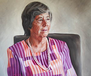 Dr Strangeways' portrait of former Administrator of the Northern Territory Her Honour the Honourable Sally Thomas AC