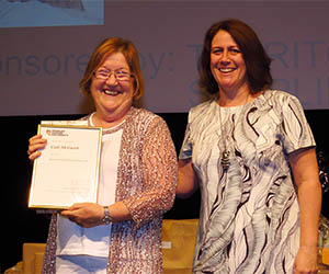 Bachelor of Nursing student Gale McGuirk and lecturer Robin Cross