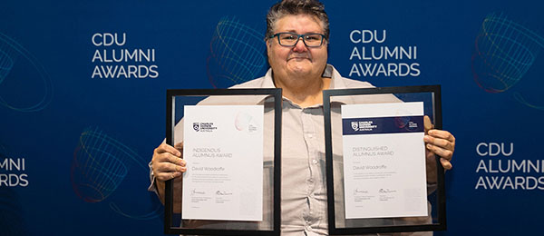 David Woodroffetook out the overall prize at the inaugural Charles Darwin University Alumni Awards