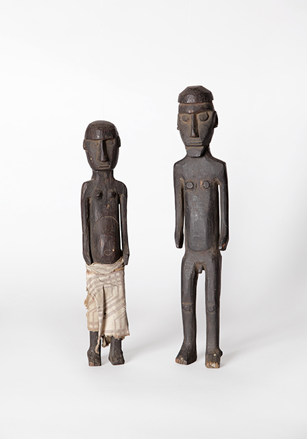 Ancestor figurines, female and male