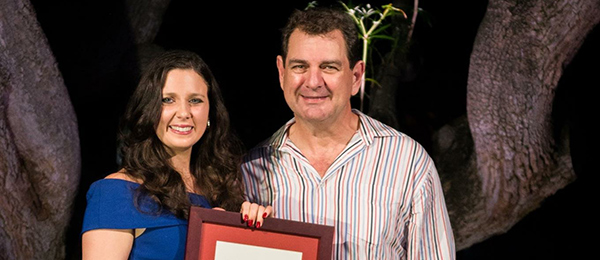Bachelor of Design graduate Danni'elle Jenkins with local architect Hully Liveris. Photo supplied by Photos for u