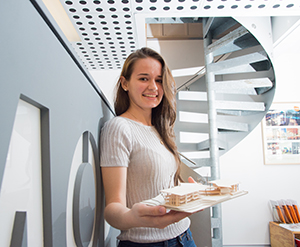 CDU design graduate Sarah Young says her determination helped her secure the award