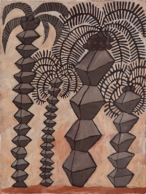 Brancusi Palms, Marina Strocchi, 2003, acrylic on paper, 75 x 56.5cm, CDU Art Collection, CDU1852