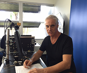 AusTalk Data Collection Manager Bruce Birch is recording the speech of long-term Territorians