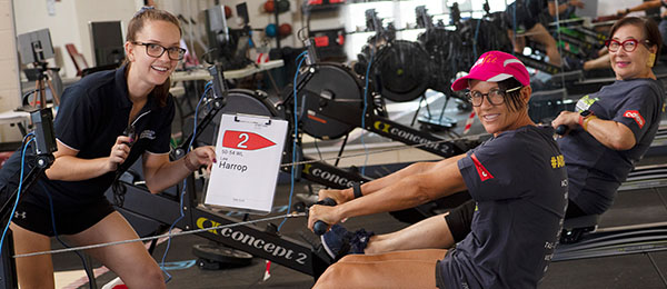 Shani Williams, Lee Harrop and Maria Scarlett represented the Northern Territory in the Australian Indoor Rowing Championships