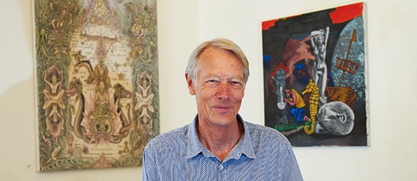 Scholar, art collector and curator Christopher Hill in 2014. Photographer: Rob Fyfe