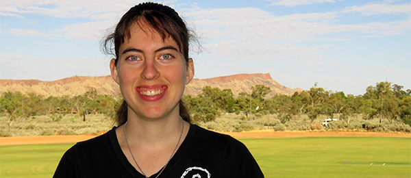 Honours student Nerida Liddle … bilby listed as vulnerable