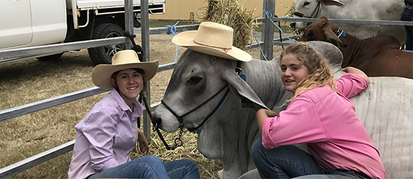 Maddi and Georgie Harley participated in the Beef Week Expo in Rockhampton