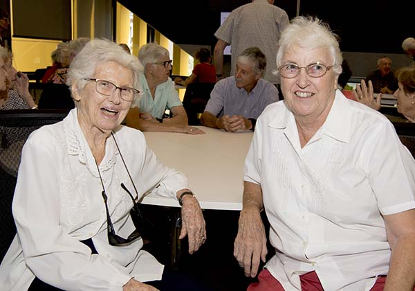 Volunteers with the Nursing Museum Jacqueline O'Brien and Sue Green