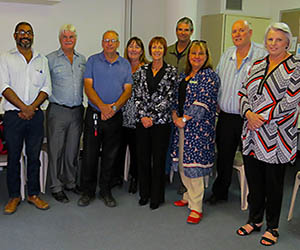 Business Central staff meet industry representatives at the consultative panel lunch in Alice Springs