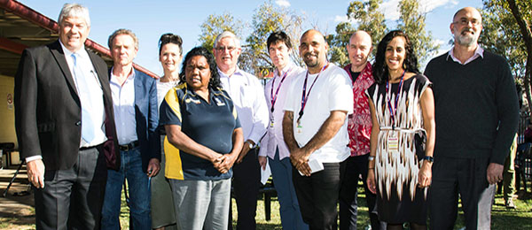 Minister Ken Wyatt (5th from left) with members of the Central Australian Academic Health Science Centre