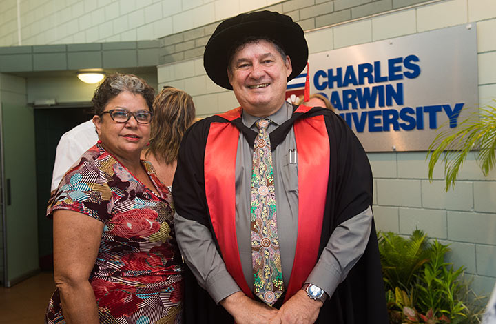 Director of Operations - Indigenous Leadership Wendy Ludwig and Pro Vice-Chancellor Indigenous Leadership Professor Steven Larkin.